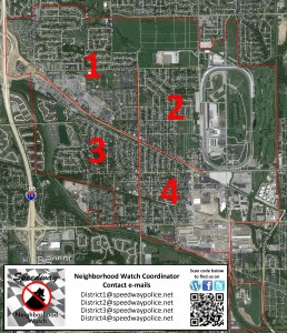 Speedway Neighborhood Watch District Map-Aerial