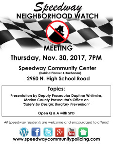 NEIGHBORHOOD WATCH-MEETING FLYER 11-2017